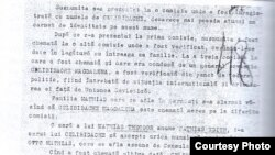Pagină din dosarul Securității referitoare la Magdalena Celibidache (Sursă: CNSAS/I.R. Voicu-Arnăuțoiu)