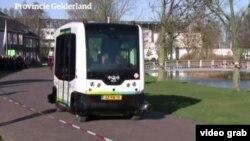 نخستین اتوبوس بدون راننده در هلند