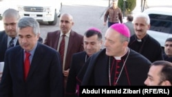 The Vatican's ambassador to Iraq, Giorgio Lingwa, visits Irbil