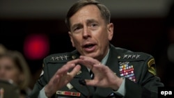 U.S. General David Petraeus testifies at his Senate hearing to become commander of the International Security Assistance Force and commander of U.S. forces in Afghanistan on June 29.