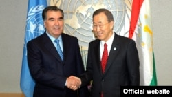 Встреча президента Таджикистана Э.Рахмона и Генерального секретаря ООН Пан Ги Муна 22 сентября 2010 года