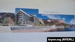 Будущая гостиница от ООО «Ривьера Форос» на набережной Фороса