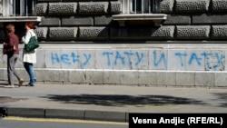 "Grafit protiv ""Parade ponosa"" u Beogradu, septembar 2014. godine"