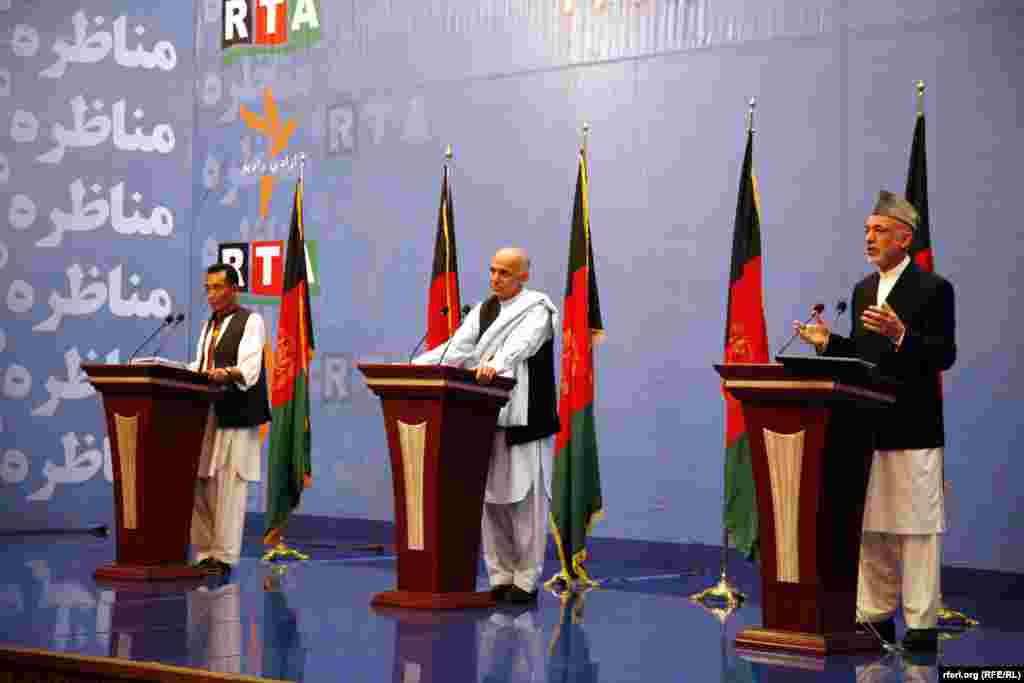 RFE/RL's Akbar Ayazi moderated the first ever debate between Afghan presidential candidates, August 2009.