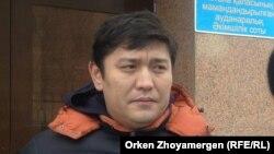 Активиста движения «Антигептил» Сакен Байкенов. Астана, 28 февраля 2014 года.