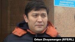 Активист движения «Антигептил» Сакен Байкенов.