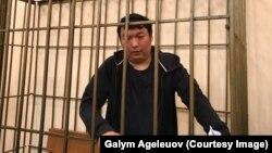 Арестованный в Бишкеке по запросу Астаны казахстанский оппозиционный активист и блогер Муратбек Тунгишбаев.