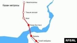 Казан метро харитасы