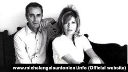 Monica Vitti və Michelangelo Antonioni.
