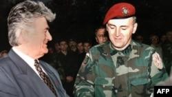 Радаван Караджыч з Ратка Младзічам у 1995-ым