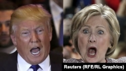 Дональд Трамп жана Хиллари Клинтон