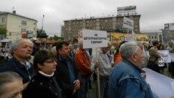 Митинг против расширения шоссе Энтузиастов