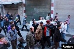 Похороны солдат Свободной Сирийской армии, убитых в боях с ИГИЛ
