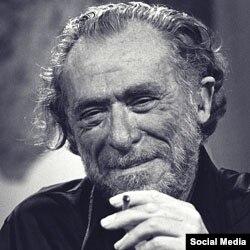 Amerikan postmodern underground yazıçısı Charles Bukowski/