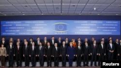 Лидеры Евросоюза на саммите. Брюссель, 18 октября 2012 года.