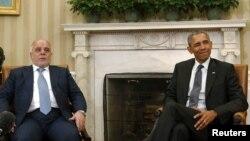 АКШнын президенти Барак Обама жана Ирактын премьер-министри Хайдер Аль-Абади