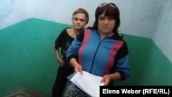Ольга Кирьянова, жительница аварийного подъезда, где рухнула крыша. Темиртау, 15 августа 2015 года.