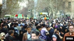 Crowds in the streets of Tehran, Iran's capital. File photo
