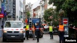 Поліція на якийсь час перекривала історичний центр Шаффгаузена, 24 липня 2017 року