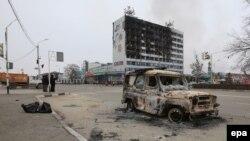 Чечня - сожженный терористами Дом печати. 4 декабря 2014