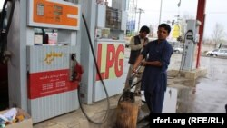 یک تانک تیل در افغانستان