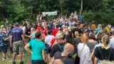 Serbia -- protest against the construction of a mini-hydroelectric plant in Rakita village on Stara planina, August 15, 2020.