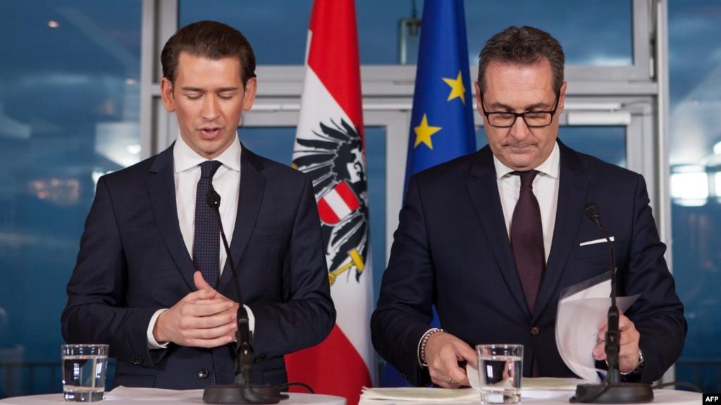 Курц официально стал канцлером Австрии. Страна вышла напротесты