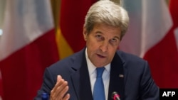 "U.S. Secretary of State John Kerry said he was ""frustrated"" that his diplomatic efforts to end the Syrian war haven't been backed by the threat of military force."