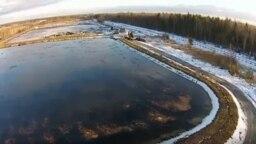 На этом полигоне захоронены токсичные отходы химических, медицинских, промышленных предприятий
