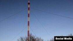 Новая телевышка на горе Карачун, 5 декабря 2016 года