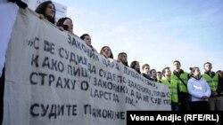 Studentski protesti protiv Haškog tribunala decembra 2012., ilustrativna fotografija