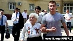 Ветеран Второй мировой войны. Ташкент, 2012 год.