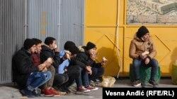 Мигранти во Белград, декември 2020.