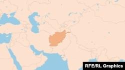 Harta e Afganistanit.