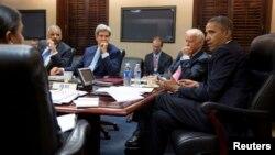 أوباما يناقش الوضع في سوريا في إجتماع بالبيت البيض