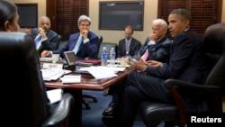 Barak Obama u Beloj kući razgovara o situaciji u Siriji, 30. avgust 2013.