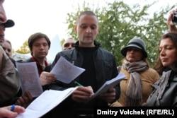 Сергей Удальцов во время митинга в 2012 году в Москве