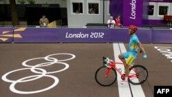 Александр Винокуровтың мәре сызығына жеткен сәті. Лондон, 28 шілде 2012.