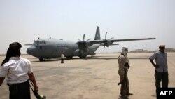 هواپیمای قطری حامل محموله برای نیروهای وفادار به عبد ربه مصنور هادی