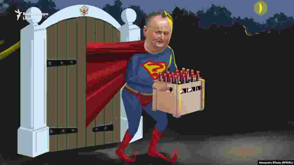 Lui Vladimir Putin, i-a dus în dar la Moscova câteva zeci de sticle cu vin. Dar luase vinul din proprie inițiativă chiar din colecția personală a lui Putin, păstrată la Cricova.