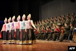 The Aleksandrov Ensemble is the official army choir of the Russian armed forces (file photo).
