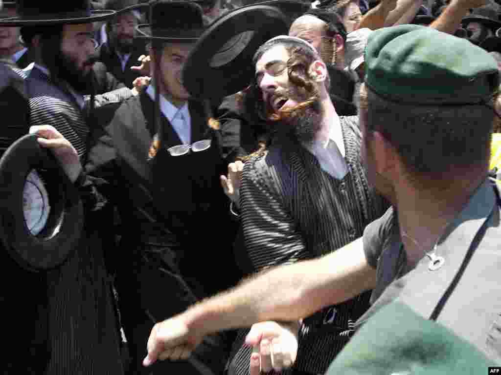 Protesti u Jerusalimu, 16.06.2010. Foto: AFP / Rod Lamkey