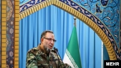 Kioumars Heydari, commander of Iranian army's Ground Forces at the Friday Prayers on April 12, 2019