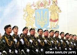 Во время празднования Дня Независимости Украины. Киев, 24 августа 2009 года