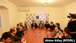 Azerbaijani journalists condemn the attack on journalist Seymur Haziyev, 26Mar2011