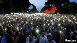 Архивска фотографија- протести во Албанија