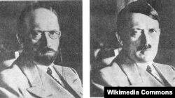 У 1944 годзе Сакрэтная служба ЗША выказала здагадку, як мог бы зьмяніць зьнешнасьць Гітлер, калі пасьля паразы Нямеччыны яму давялося б хавацца. У траўні 1945 гэта выява была расклееная па ўсёй амэрыканскай акупацыйнай зоне.