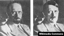 В 1944 году Секретная служба США предположила, как мог бы изменить внешность Гитлер, если после поражения Германии ему придется скрываться. В мае 1945 это изображение было расклеено по всей американской оккупационной зоне.
