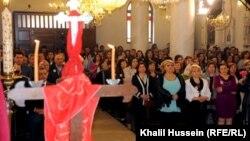 قداس عيد الفصح في كنيسة أم الزنار للسريان الأرثوذكس في حمص