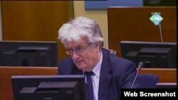 Snimak suđenju Radovanu Karadžiću, bivšem lideru bosanskih Srba za ratne zločine u Bosni i Hercegovini sudi, Hag, 26. januar 2011.
